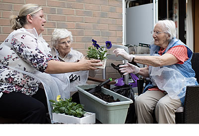 Gardening at New Forest Quaker Care Home